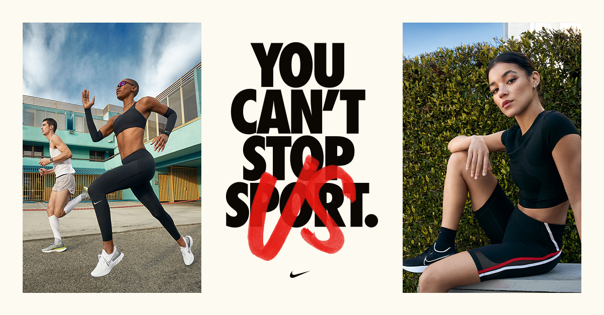 You can't stop sport, Nike Factory Store